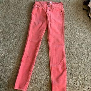 Old Navy pink corduroy rockstar skinny jeans